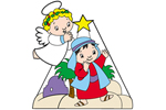 Whimsical kids with star yard art pattern