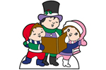 The caroler kids yard art pattern has a traditional style
