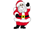 Mr. Claus waving adds a welcoming holiday decoration to your yard