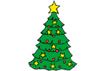 Christmas tree yard ary pattern is colorful and bright