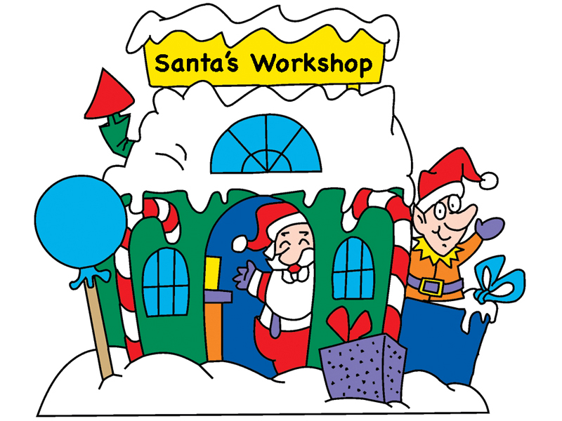 Building Plans Front of Home Santa's Workshop