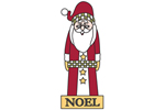 Santa Noel is a cute nostalgic design yard art pattern for the holidays