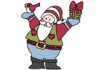 Mr. Kringle is a country style Santa yard art pattern