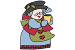 Mrs. Kringle is a country style Mrs. Claus yard art pattern
