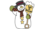 Let it snow yard art pattern is a traditional snowman style