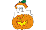 Ghost in pumpkin is a cute Halloween decoration for your front yard