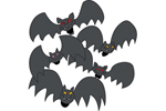 This collection of scary bats will thrill the trick-or-treaters that come to your front door for candy