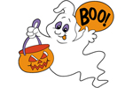 Flying boo ghost is a cute yard decoration that is worth remembering