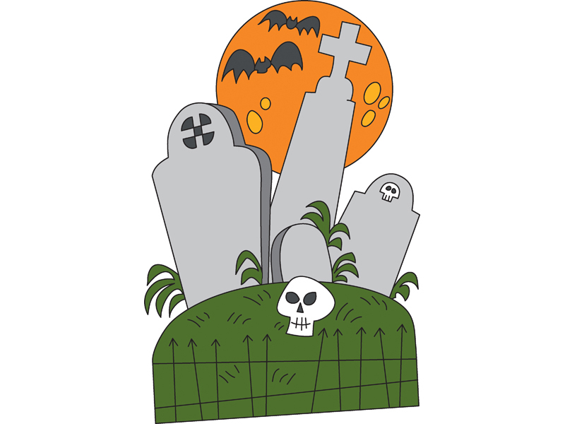 Tombstones is a great addition to your outdoor Halloween decorations