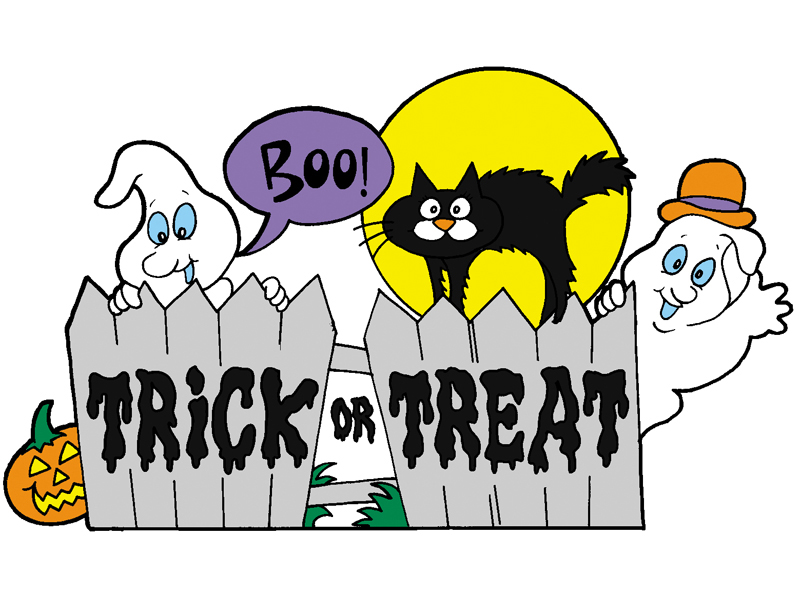 Ranch Plan Front of Home Trick or Treat Fence