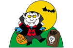 Vampire at tombstone yard art pattern has great fun and style