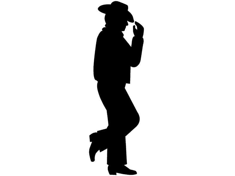 Traditional Plan Front of Home Silhouette Cowboy