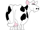 Cute cow yard art pattern is perfect all year long in your country style backyard