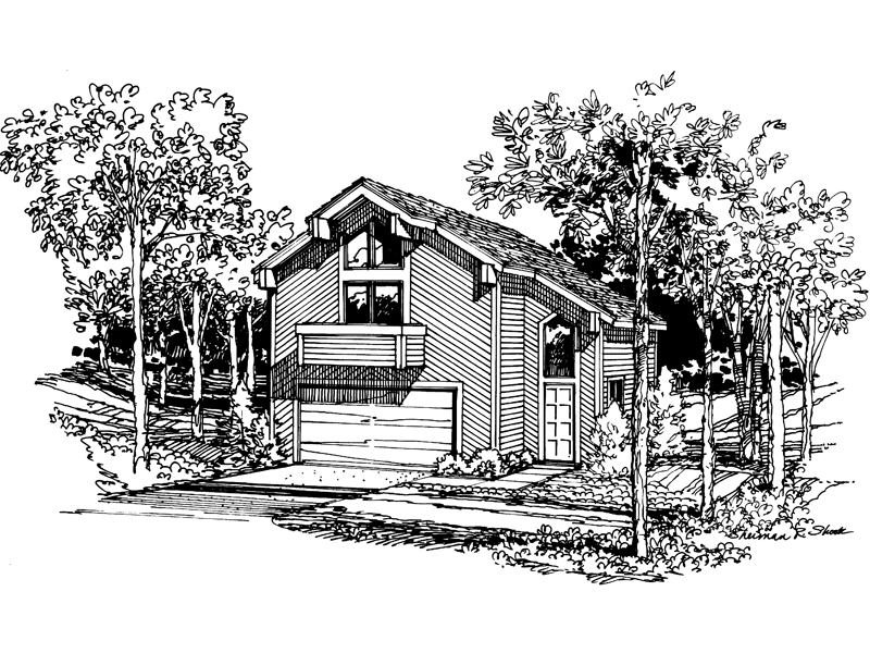 Rustic Home Plan Front Image of House - 007D-0027 | House Plans and More