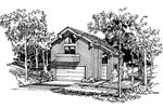 Building Plans Front Image of House - 007D-0027 | House Plans and More