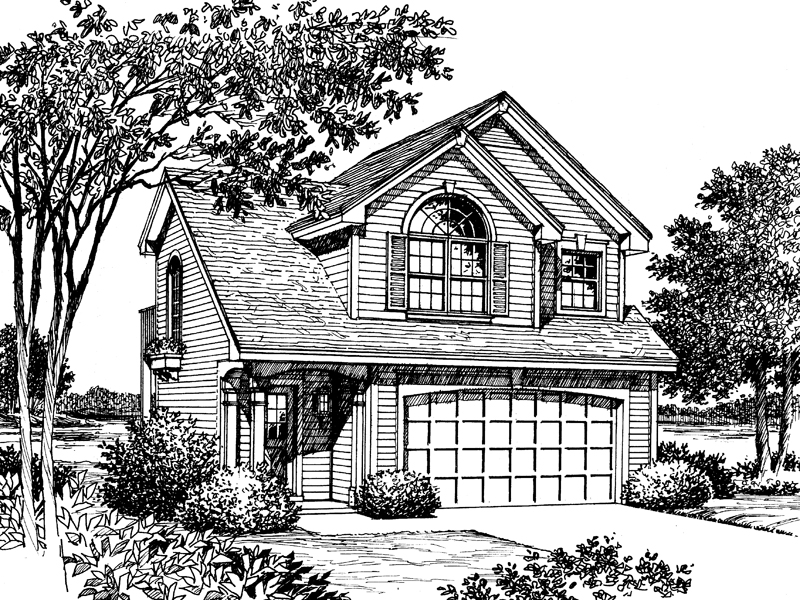 Traditional House Plan Front Image of House - 007D-0040 | House Plans and More