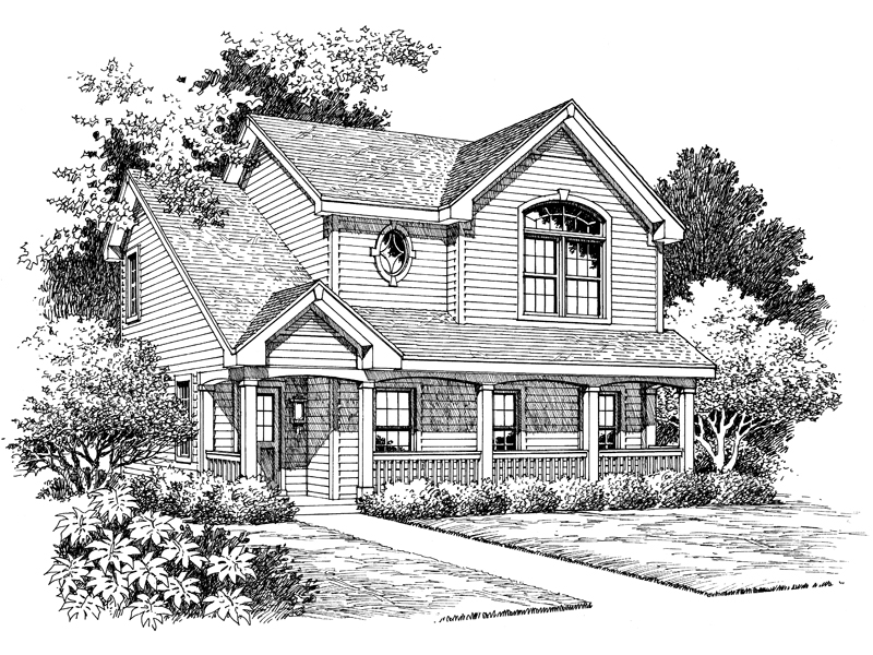 Building Plans Front Image of House - 007D-0070 | House Plans and More