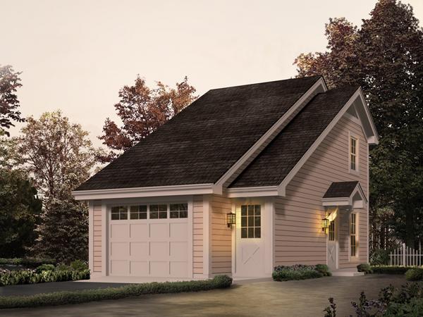 Newton park apartment garage plan 007d 0188 house plans for One car garage apartment plans