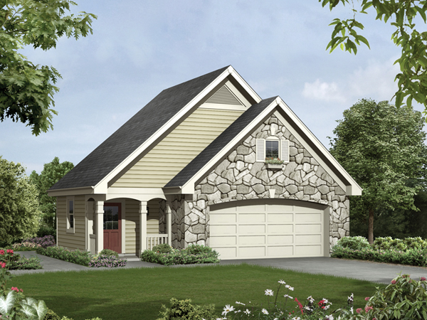 Kirby garage with shop plan 009d 6000 house plans and more for Single story garage apartment