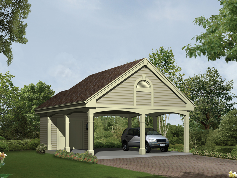 Giselle carport with storage plan 009d 6002 house plans for Carport plans pdf