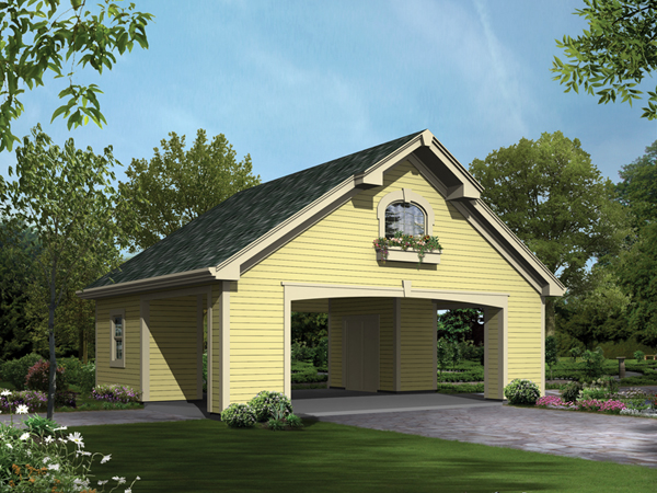 Two car carport with storage rooms 009d 6010 garage plans and more