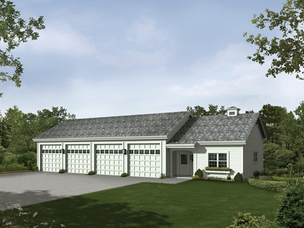 Rainey six car garage and shop plan 009d 7518 house for 8 car garage house plans