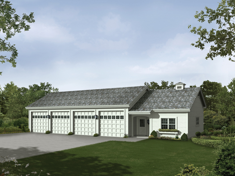 rainey six car garage and shop plan 009d 7518 house
