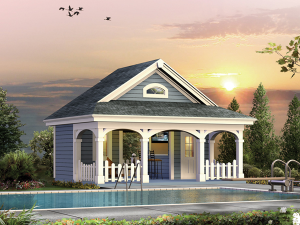 Summerville pool cabana plan 009d 7524 house plans and more for Pool house designs plans