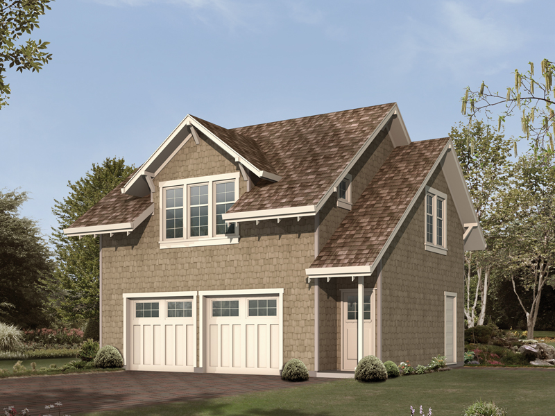 Attractive Craftsman style two-car apartment garage