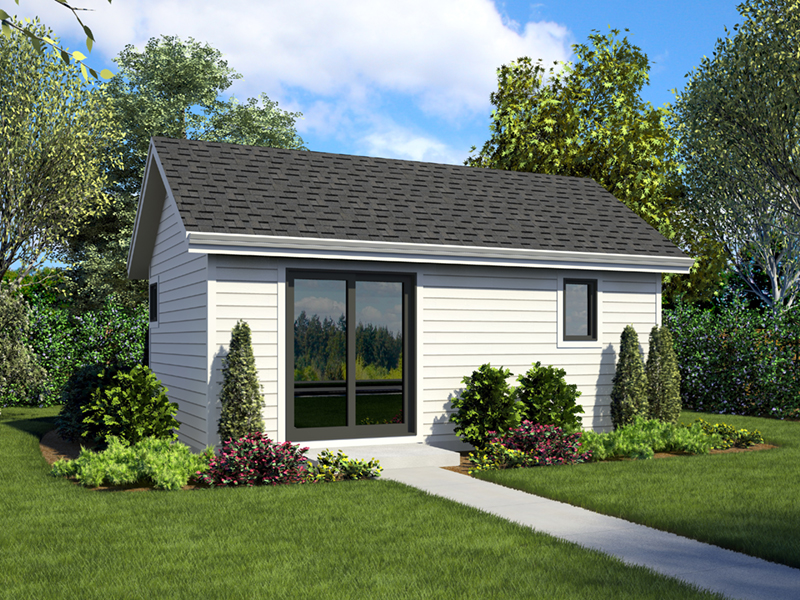 Contemporary House Plan Front of Home - Moorpark Modern Studio 012D-7507 | House Plans and More