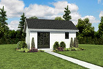 Contemporary House Plan Front Photo 01 - Moorpark Modern Studio 012D-7507 | House Plans and More