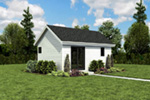 Contemporary House Plan Front Photo 02 - Moorpark Modern Studio 012D-7507 | House Plans and More
