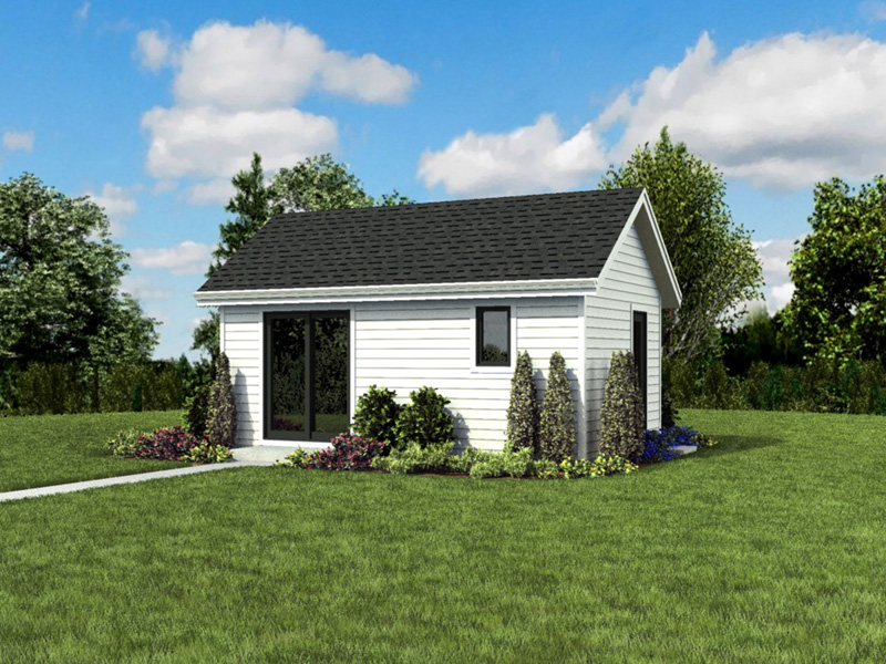 Contemporary House Plan Front Photo 05 - Moorpark Modern Studio 012D-7507 | House Plans and More