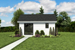 Contemporary House Plan Front Photo 06 - Moorpark Modern Studio 012D-7507 | House Plans and More