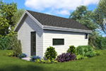 Contemporary House Plan Rear Photo 01 - Moorpark Modern Studio 012D-7507 | House Plans and More