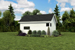 Contemporary House Plan Rear Photo 02 - Moorpark Modern Studio 012D-7507 | House Plans and More