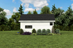 Contemporary House Plan Rear Photo 03 - Moorpark Modern Studio 012D-7507 | House Plans and More