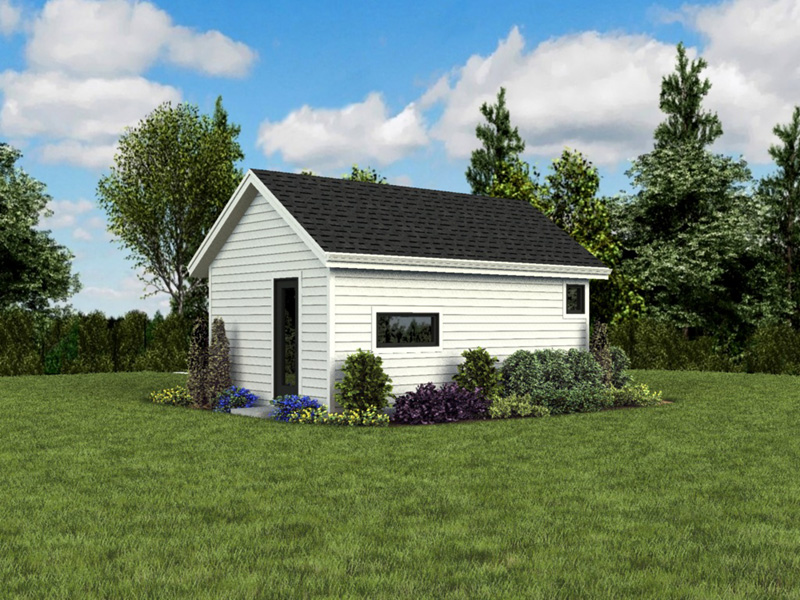 Contemporary House Plan Rear Photo 05 - Moorpark Modern Studio 012D-7507 | House Plans and More