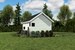 Contemporary House Plan Side View Photo - Moorpark Modern Studio 012D-7507 | House Plans and More