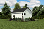 Contemporary House Plan Side View Photo 01 - Moorpark Modern Studio 012D-7507 | House Plans and More