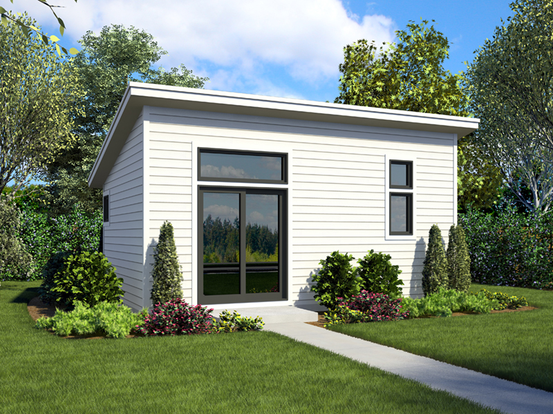 Building Plans Front of Home - Morrow Modern Studio 012D-7508 | House Plans and More