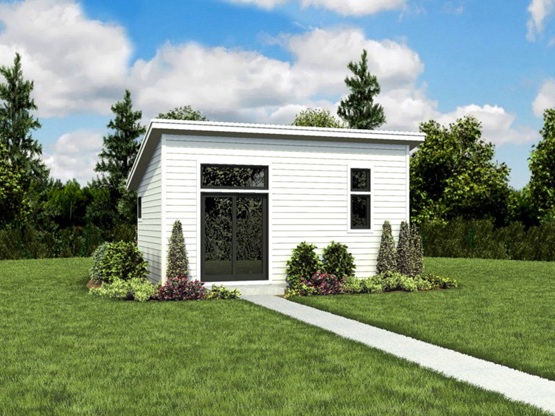 Building Plans Front Photo 01 - Morrow Modern Studio 012D-7508 | House Plans and More