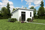 Building Plans Front Photo 02 - Morrow Modern Studio 012D-7508 | House Plans and More