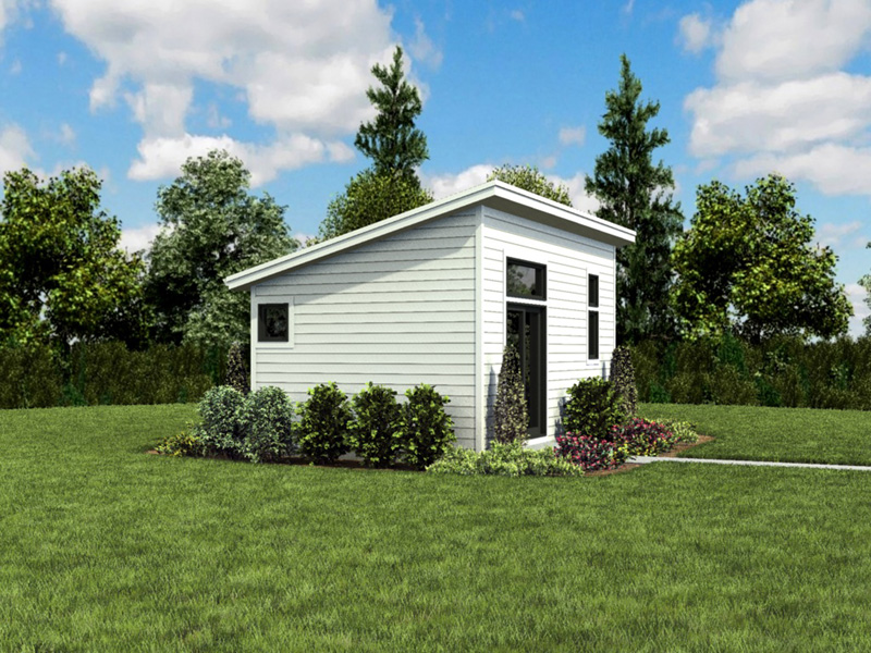Building Plans Front Photo 03 - Morrow Modern Studio 012D-7508 | House Plans and More