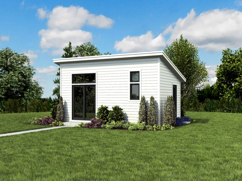 Building Plans Front Photo 05 - Morrow Modern Studio 012D-7508 | House Plans and More