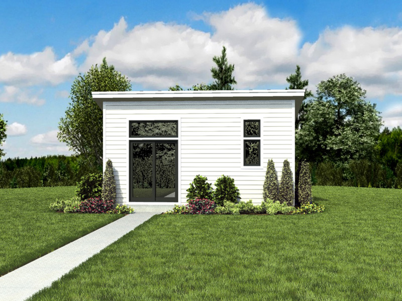 Building Plans Front Photo 06 - Morrow Modern Studio 012D-7508 | House Plans and More