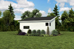 Building Plans Rear Photo 02 - Morrow Modern Studio 012D-7508 | House Plans and More