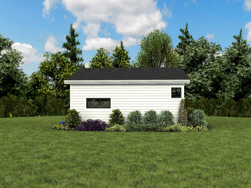 Building Plans Rear Photo 03 - Morrow Modern Studio 012D-7508 | House Plans and More