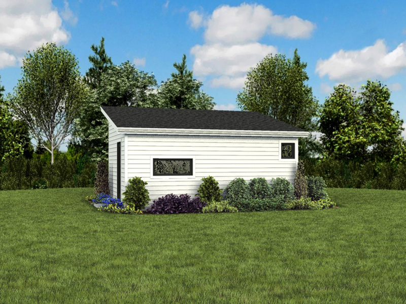 Building Plans Rear Photo 04 - Morrow Modern Studio 012D-7508 | House Plans and More