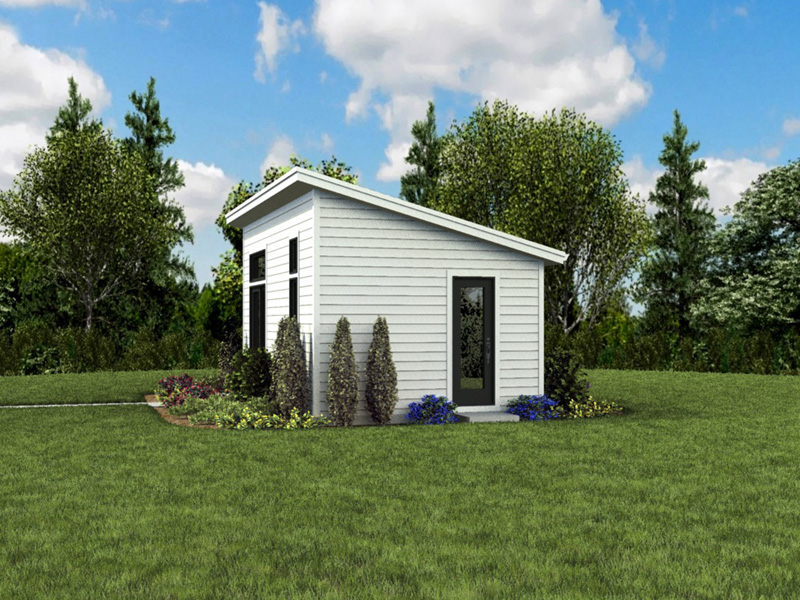 Building Plans Rear Photo 08 - Morrow Modern Studio 012D-7508 | House Plans and More